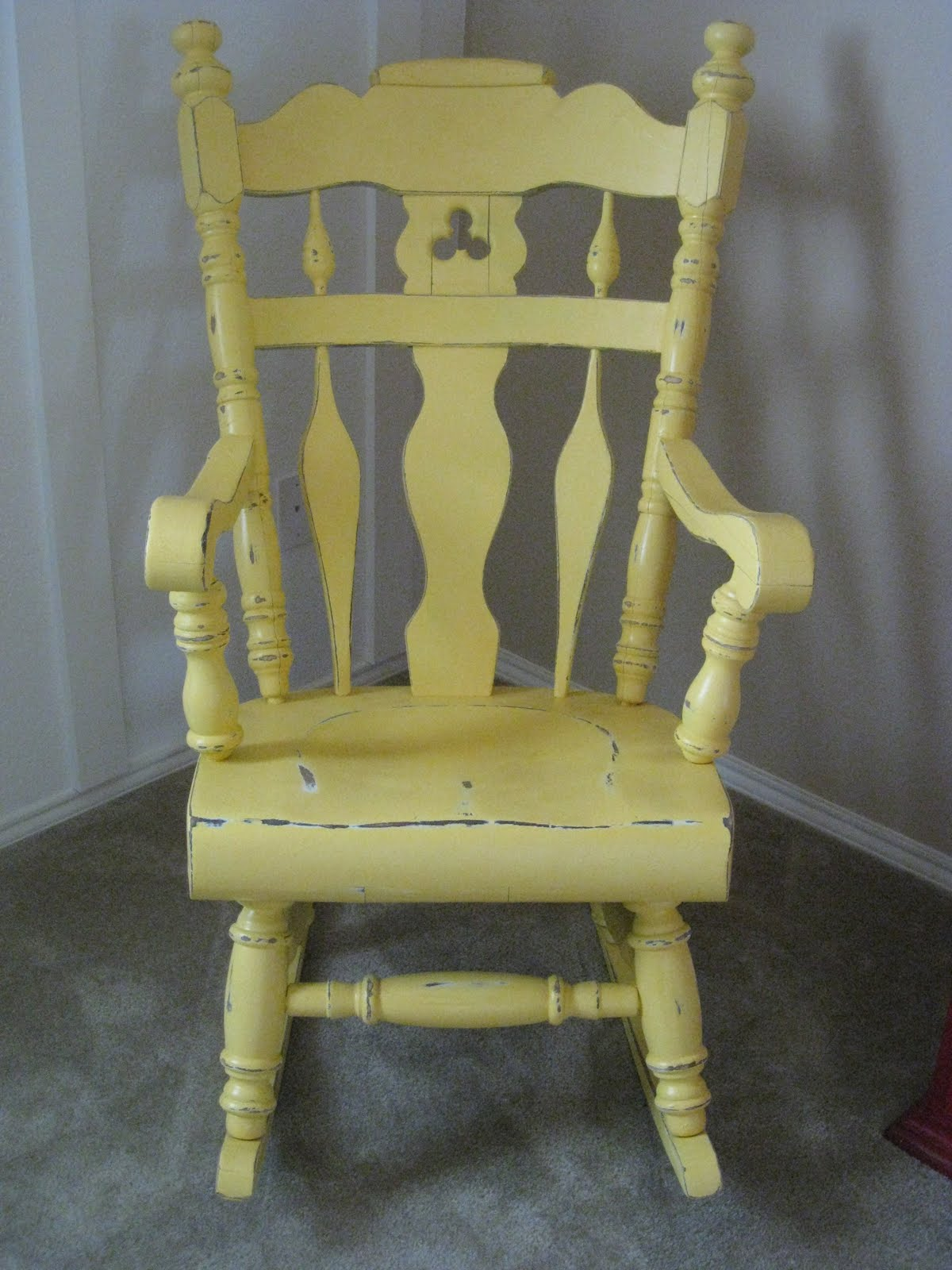Yellow Rocking Chair Baby Bouncing Rockin 39 Rehab Shanty 2 Chic