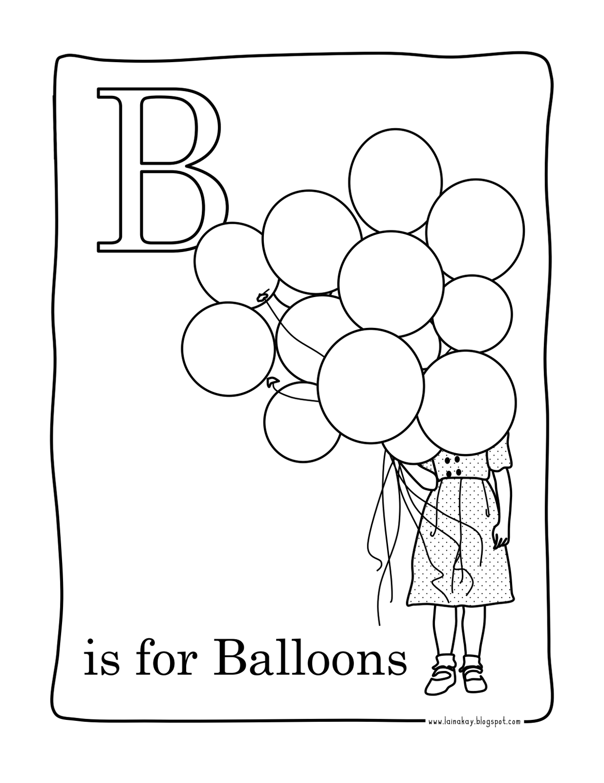 Goodness Gracious B Is For Balloons