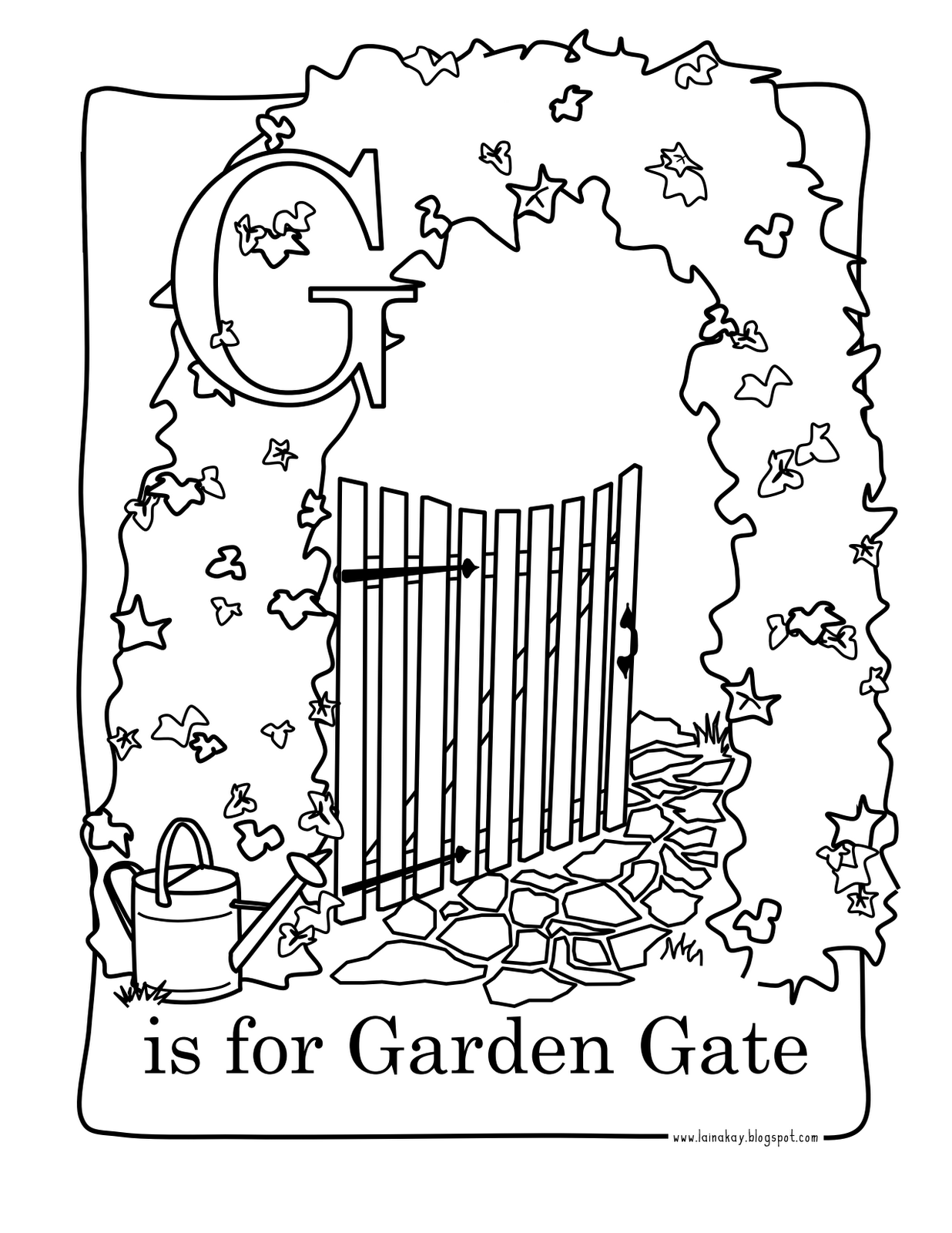 Goodness Gracious G Is For Garden Gate