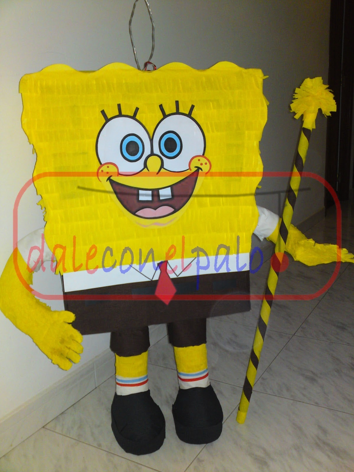 Piñatas Artesanales Daleconelpalo Piñata De Bob Esponja
