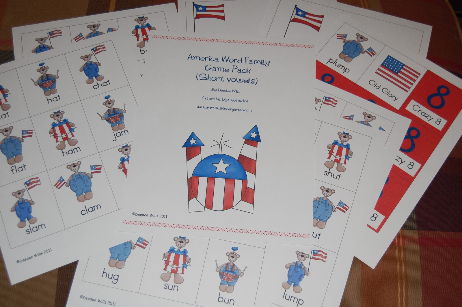 America Word Family Games