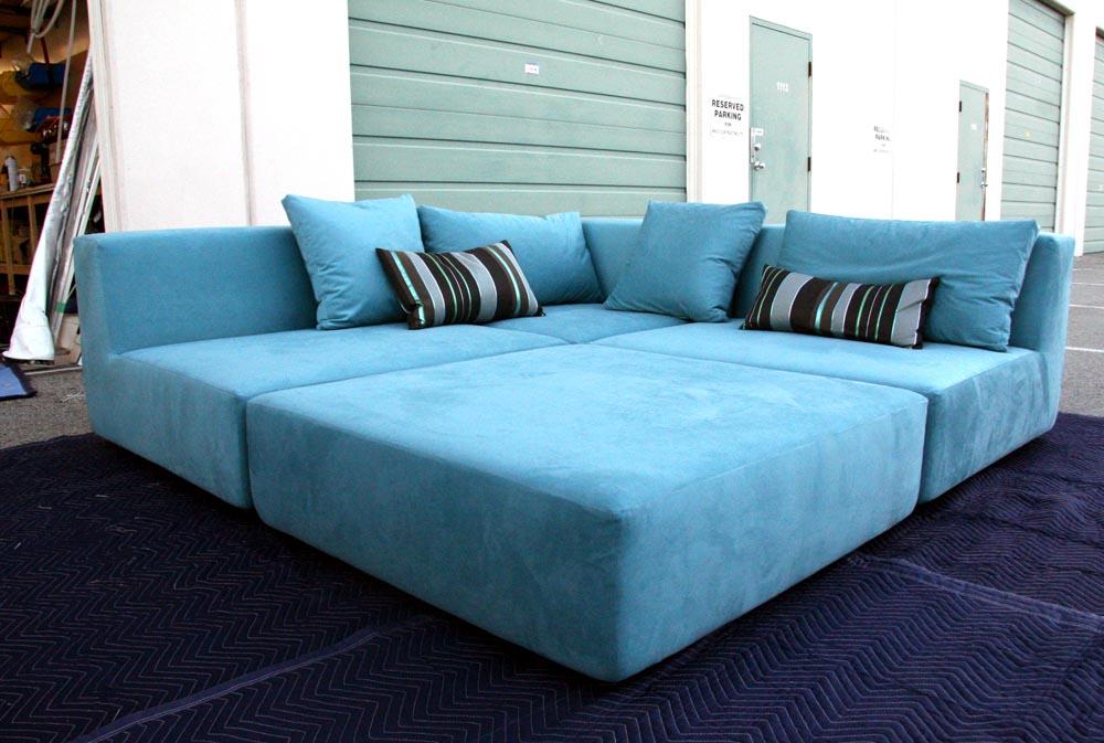 Ultra Blue Sofa King Awesome Curtain Otaku