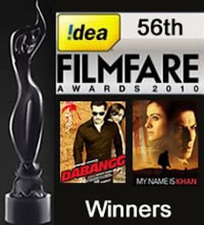 56th Filmfare Awards 2011 -Updated