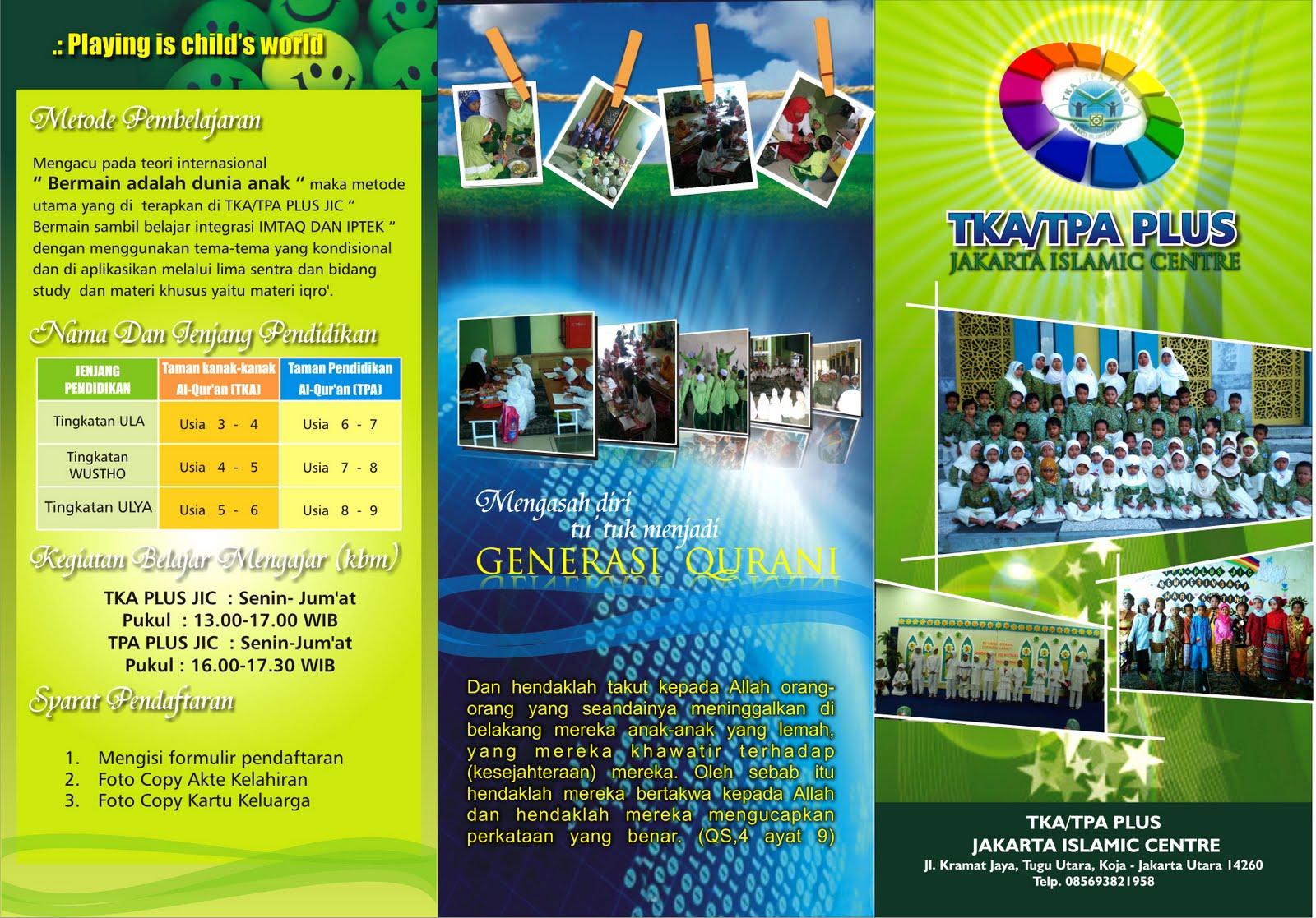 Desain Brosur Tk Tpa Plus Jic Template Banner