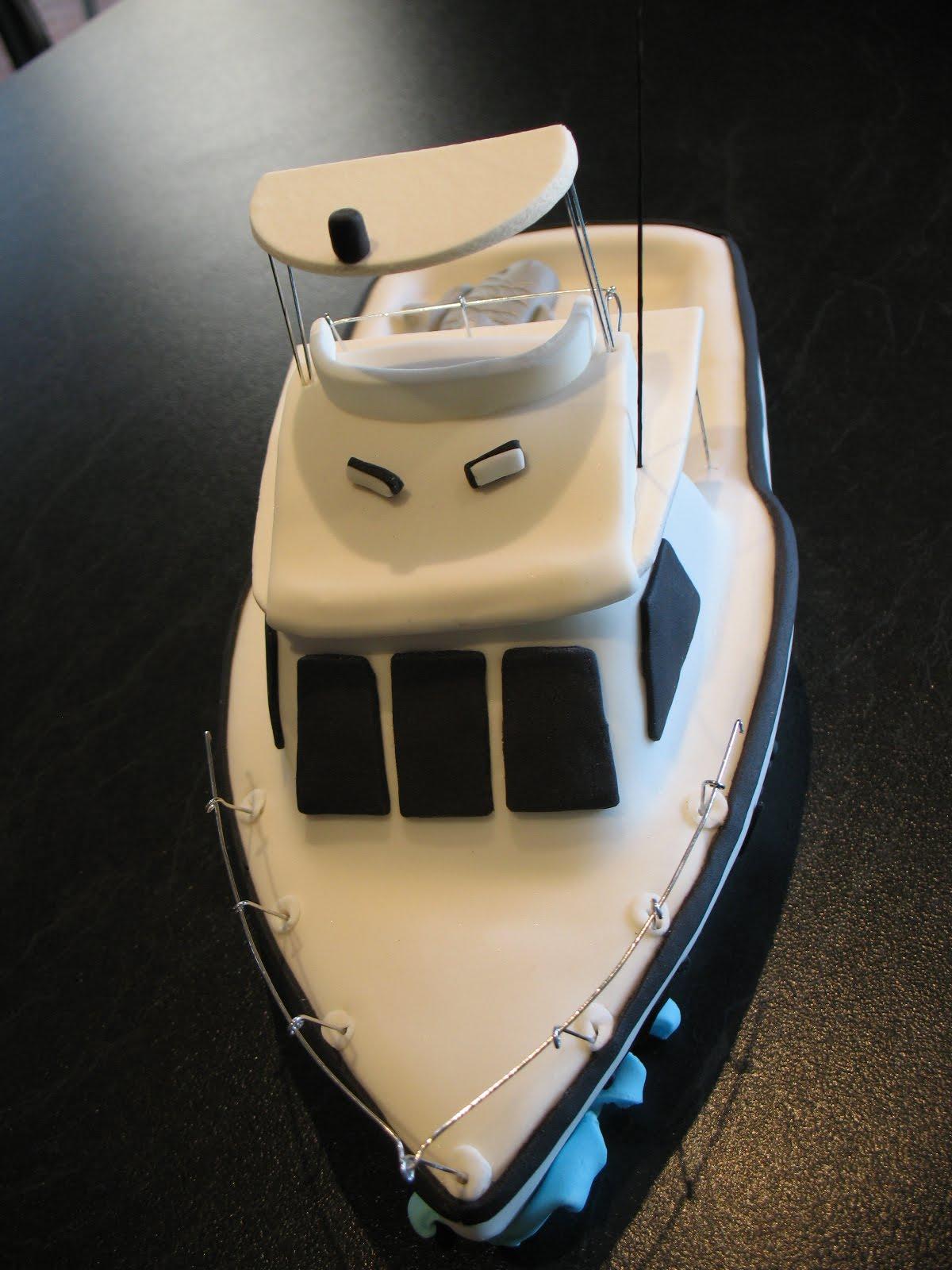 Sandys Cakes Boat Cake Topper