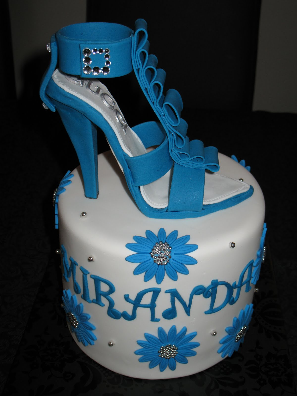 Sandy S Cakes Miranda S Beautiful Blue Shoe