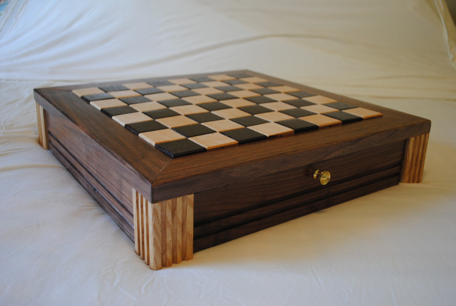 Diy Wood Chess Board First Light Woodworking Unplugged Walnut Chess Board W