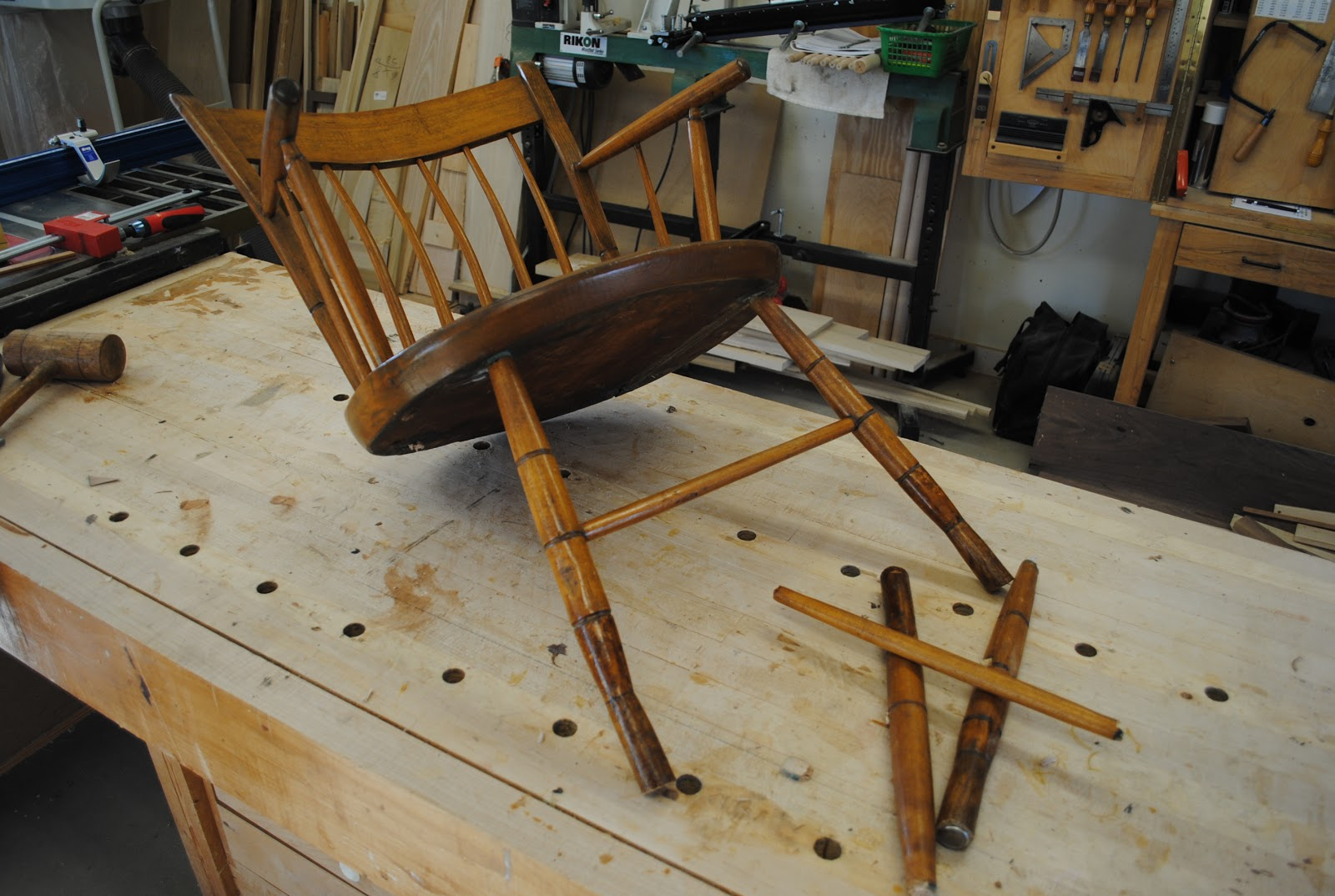 Chair Repair Shop First Light Woodworking Unplugged Windsor Chair Repair
