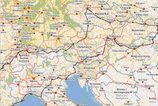 Praga Y Budapest Mapa.Furgoneta Carretera Y Manta 1994 Praga Budapest Viena