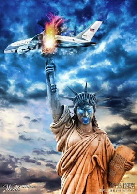 photoshop patung liberty