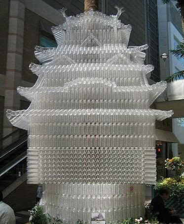 Sculptures Unique Statue Made From Plastic Bottles Easy