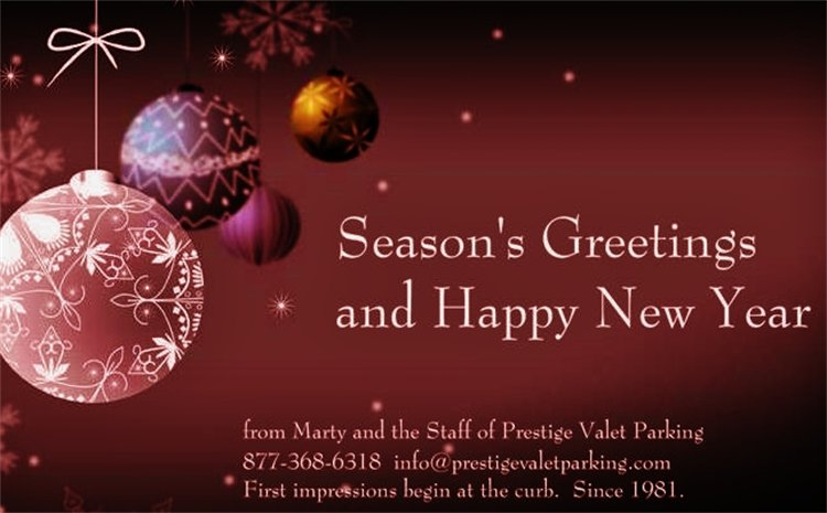 Prestige Valet Parking Blog: Season's Greetings and Happy ...