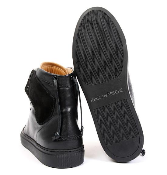 Kris Van Assche Black Tonal High Top Sneakers DNA Life  The DNA Life