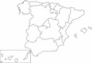 Geografia Y Latin En Bachillerato Mapa Mudo De Espana Por