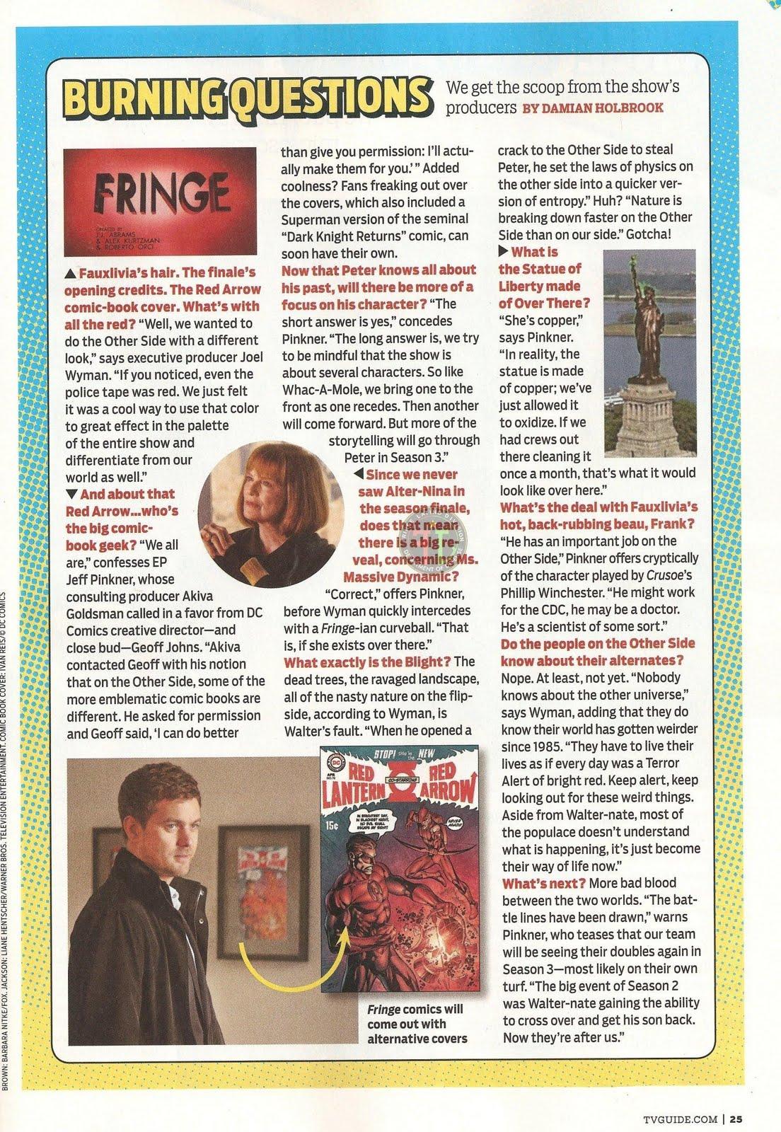 Fringe images joshua jackson and anna torv tv guide magazine.