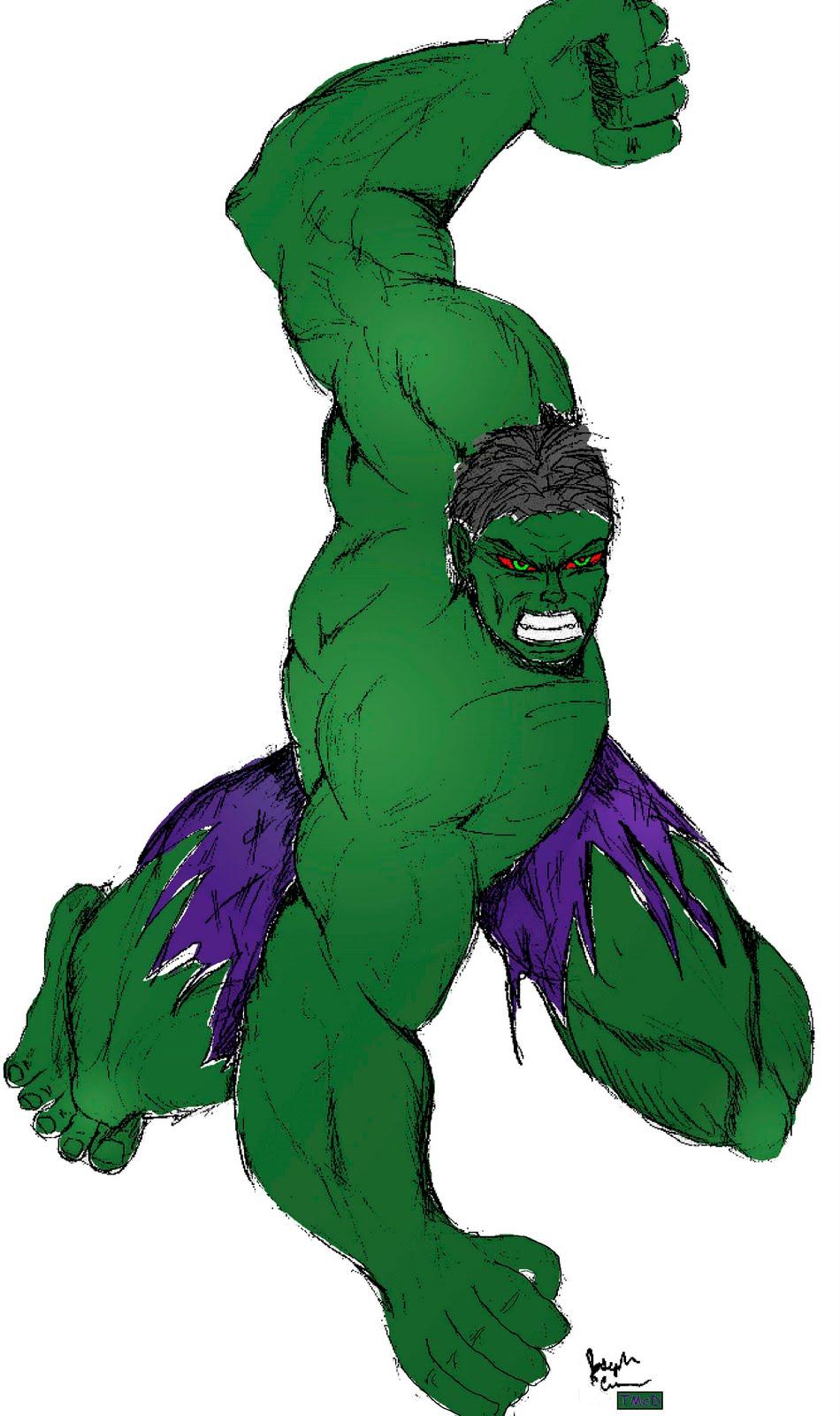 Top Mouse Art work: Hulk Smash in Color