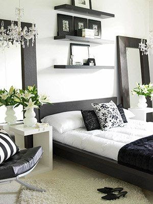 Bedroom Ideas in Black - Bedroom Black And White'n' White -Get Inspired !!