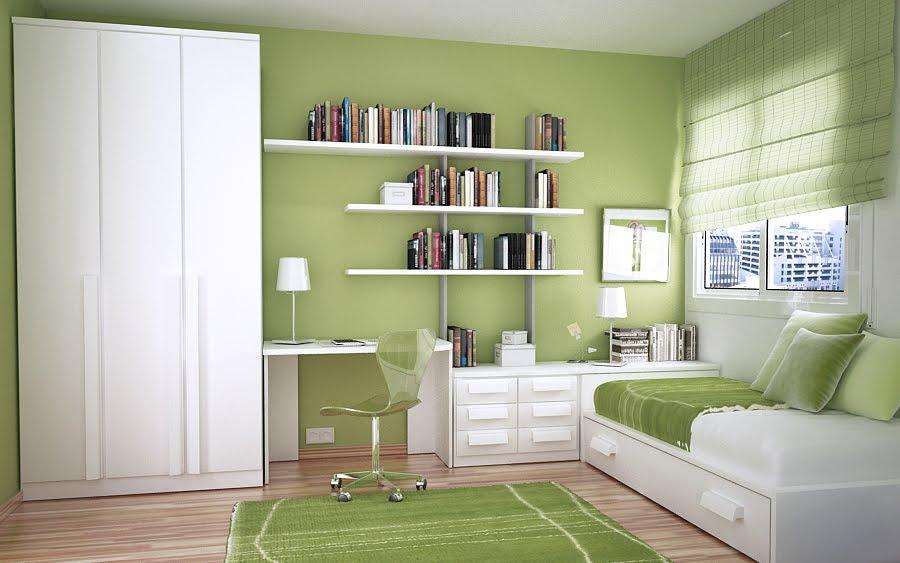 Green Teen Bedroom 9