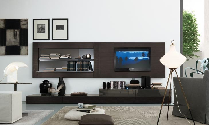 January 2011 house furniture - Interior design of living room with lcd tv ...