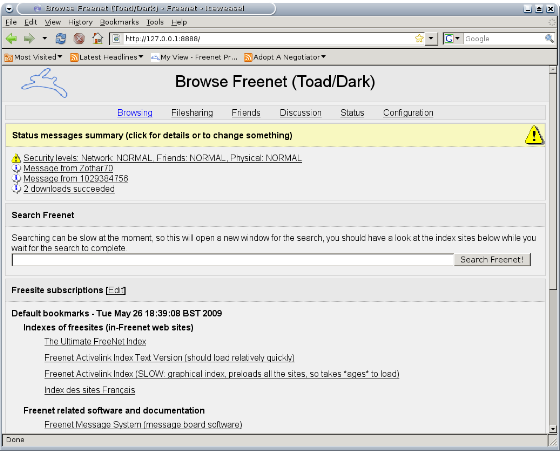 Como navegar sin censura con The Freenet Project
