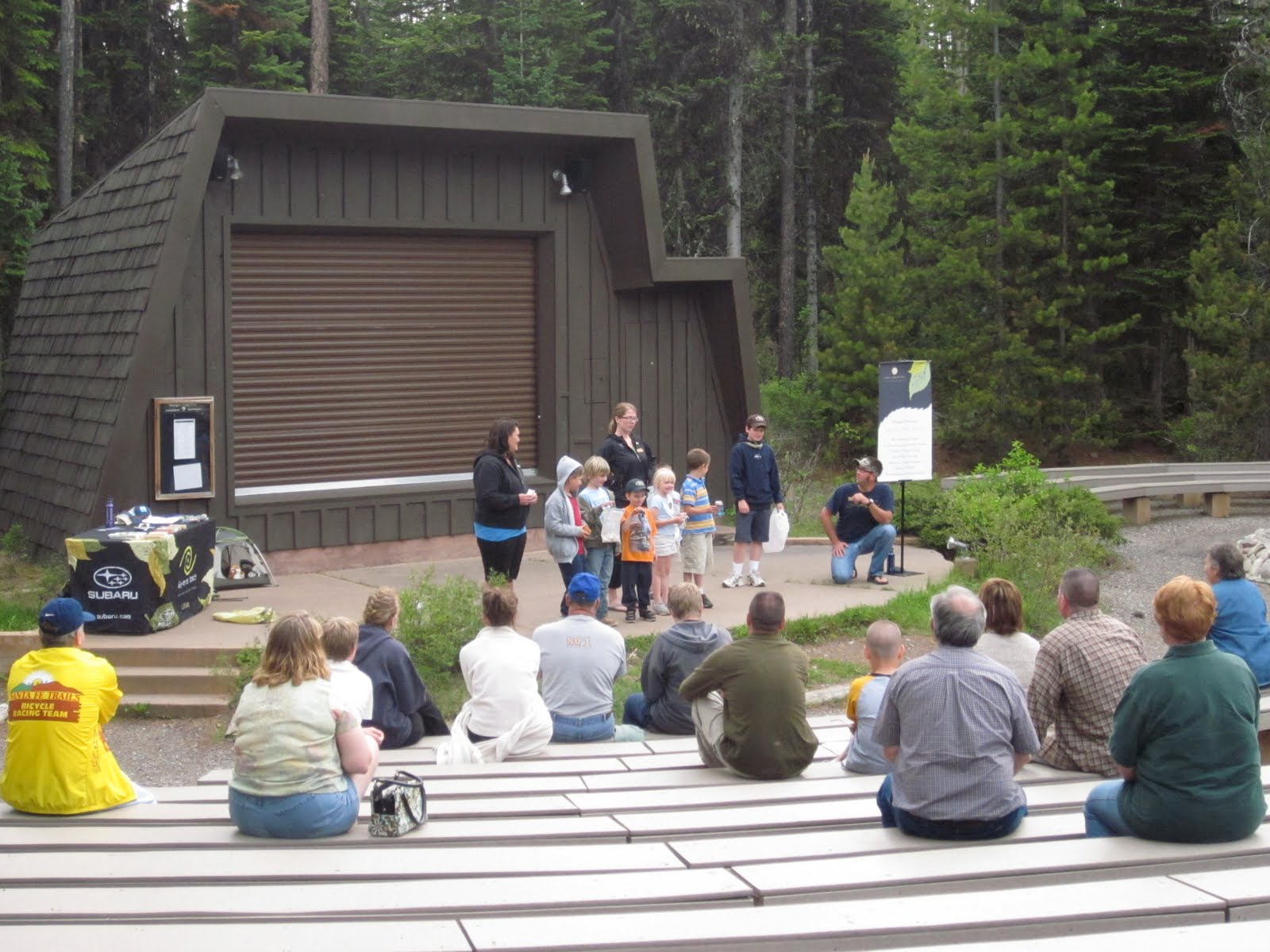 d888efd8775 One of the evenings was spent at the Colter Bay amphitheater enjoying Leave  No Trace educational activities with campers and park staff.