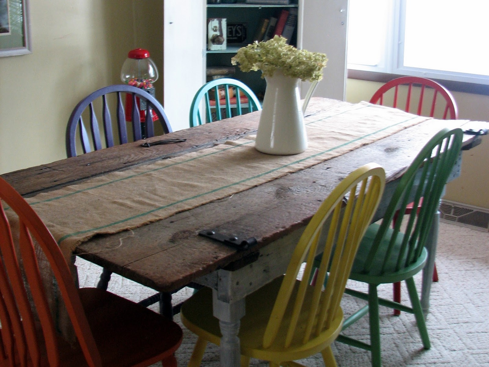 Simple Old Barn Door Recycled into Kitchen Table