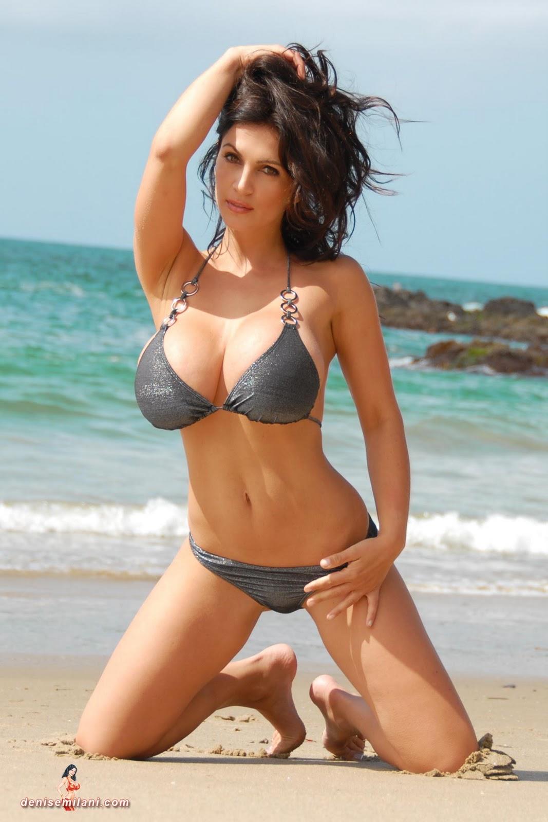 rebecca black blog: Denise Milani Silver Bikini