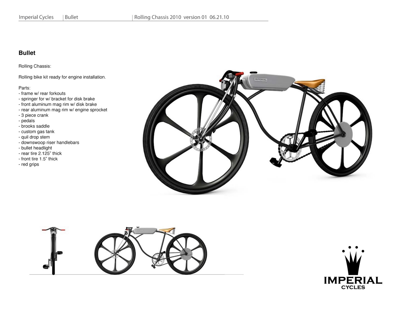 Imperial Cycles Rolling Chassis For Sale