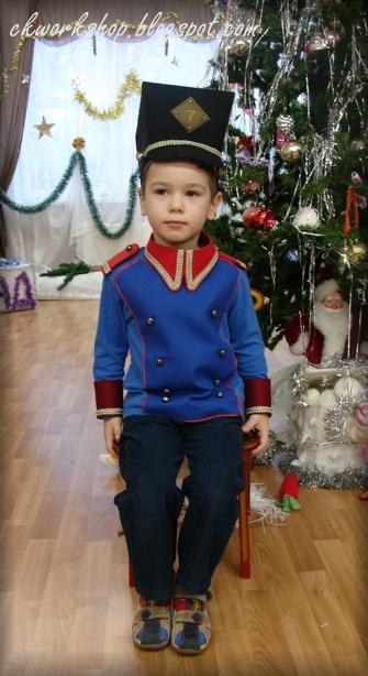Как сделать костюм оловянного солдатика для мальчика