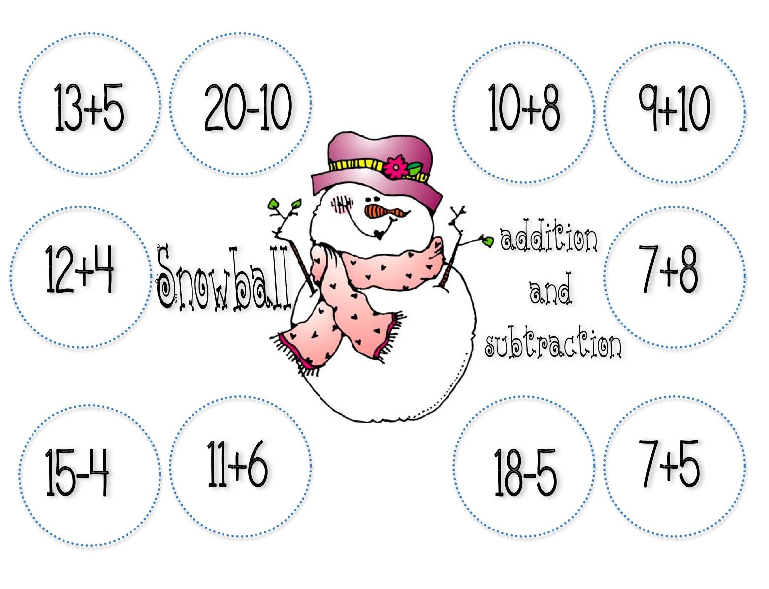 What The Teacher Wants January Math Center