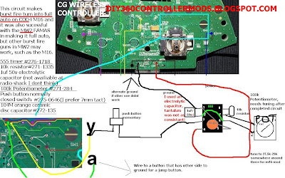 DIY 360 CONTROLLER MODS Xbox Controller Led Wiring Diagram on