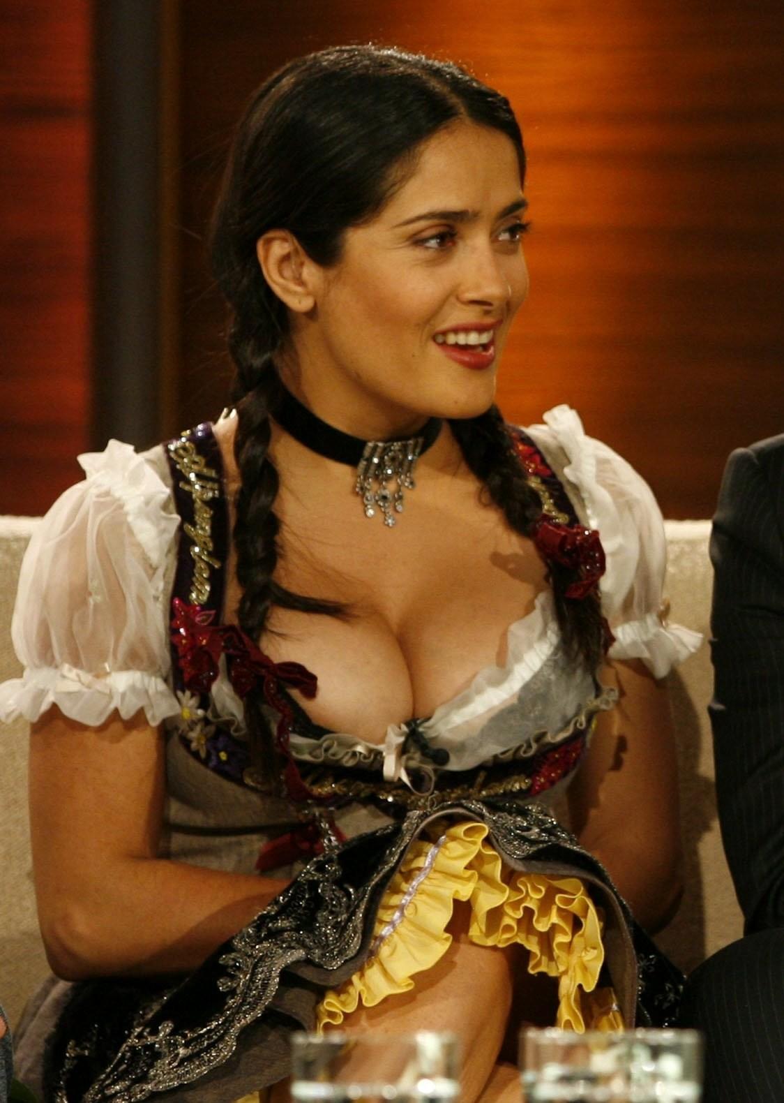 salma hayek nipples