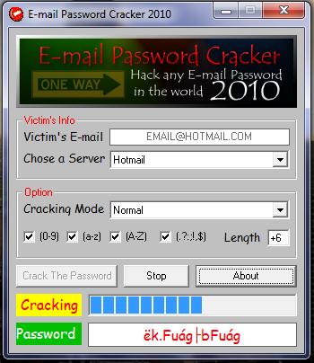 Password Crack Facebook