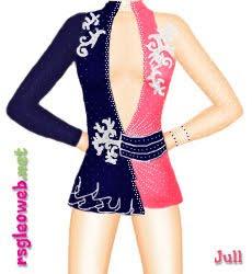 3bc8b5b9f Aqui temos o novo collant da ginasta Irina Risenson (ISR) que foi usado na  série de corda dela desse ano.