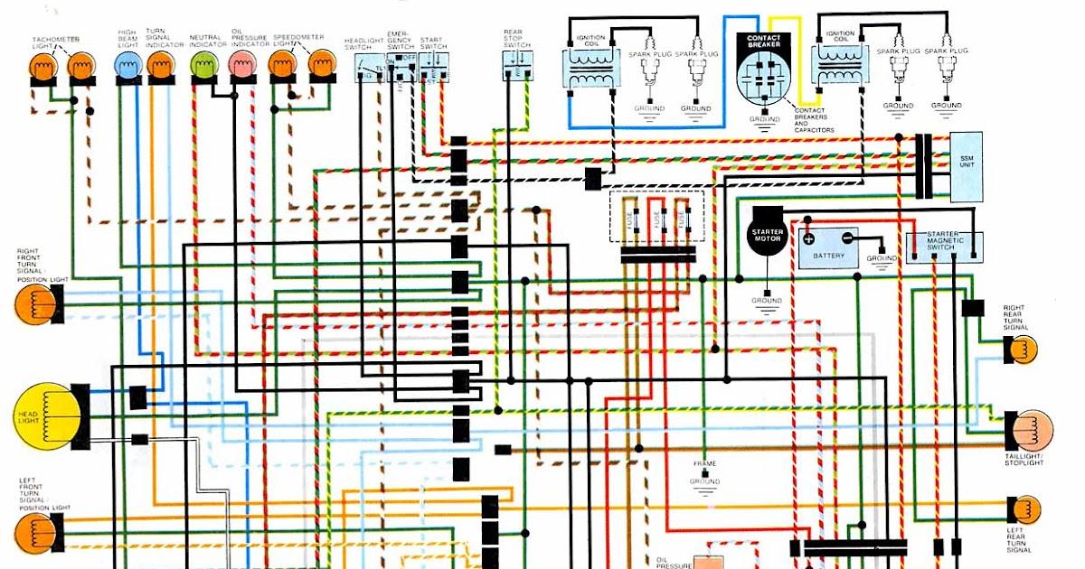 Honda Cb 550 Wiring Diagram - Wiring Diagram Progresif