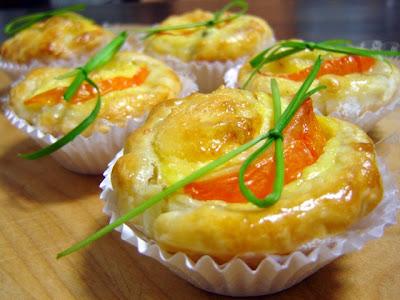 9+Rainhas+do+Lar tortinhas de queijo e alcaparras - >A Tortinha de Queijo com Alcaparras ou O Namorico de Frango com Salmão