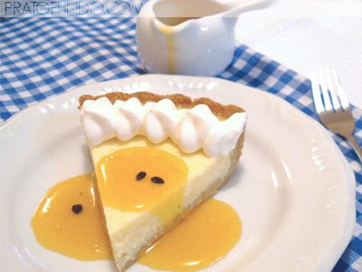 24+Prato+Fundo Vitor cheesecakelaranja009 ed - >Cheesecake de Laranja & Coalhada com Calda de Maracujá