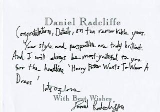 Details magazine: Daniel's 10th anniversary message