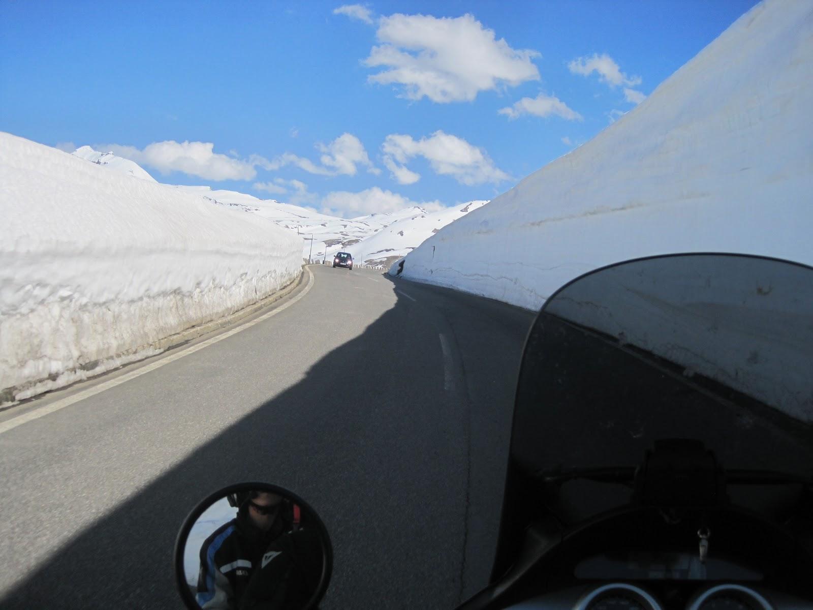 """Esto es una """"pared"""" de nieve"""