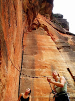 Rock Climbing Belaying - Belayer