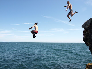 Cliff Jumping at Seaside Cliffs