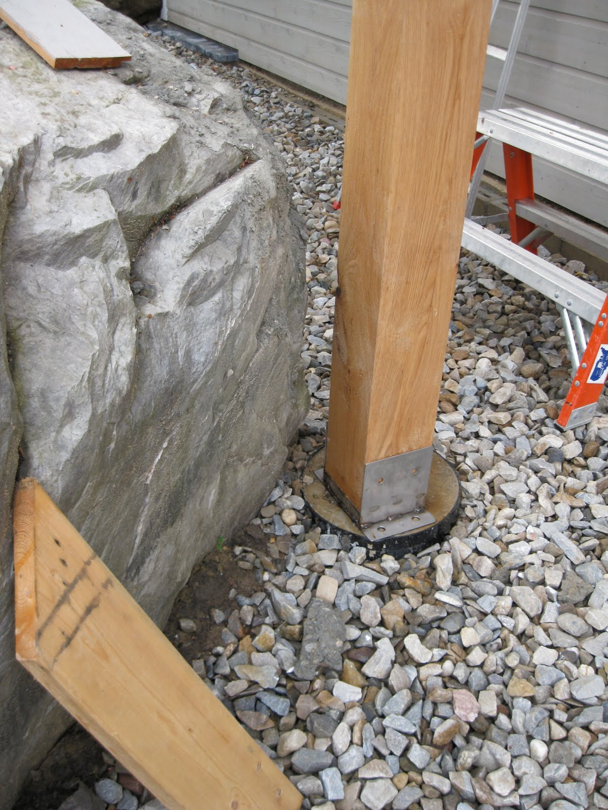 New Vermont Farmhouse Timber Frame Deck Support