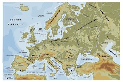 mapa hipsométrico da europa GEOGRAFIA EM FOCO: Monte Elbrus: Pico Culminante da Europa mapa hipsométrico da europa