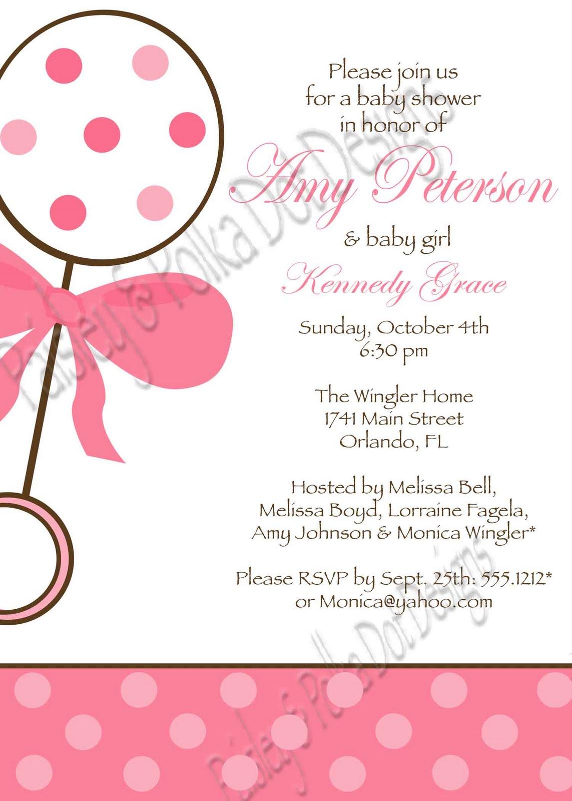 Paisley and Polka Dot Designs: Baby Shower Invitations