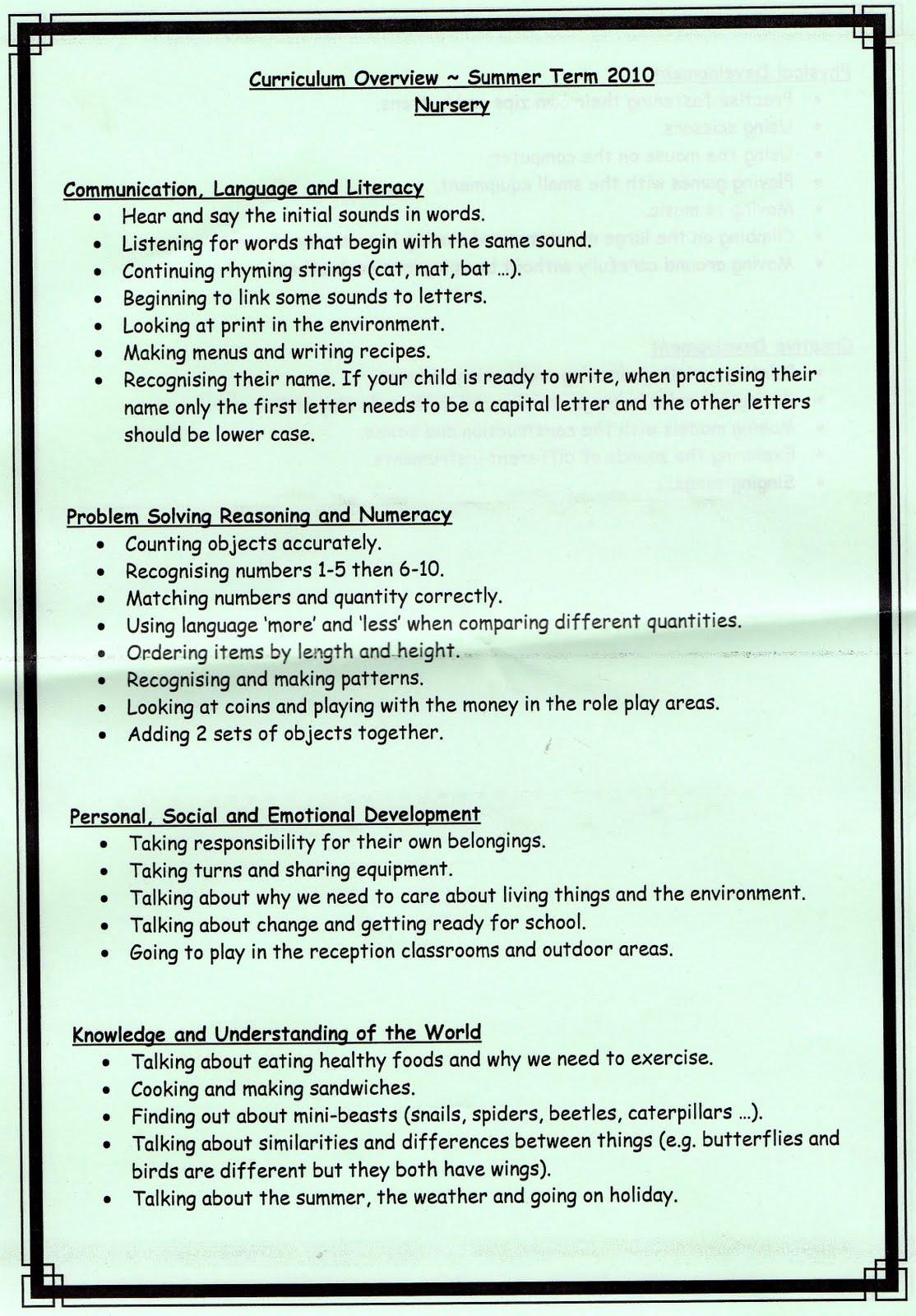 Nursery Curriculum