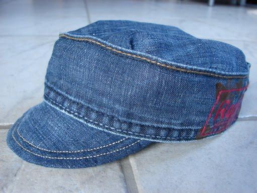 Mütze aus alten Jeanshosen...