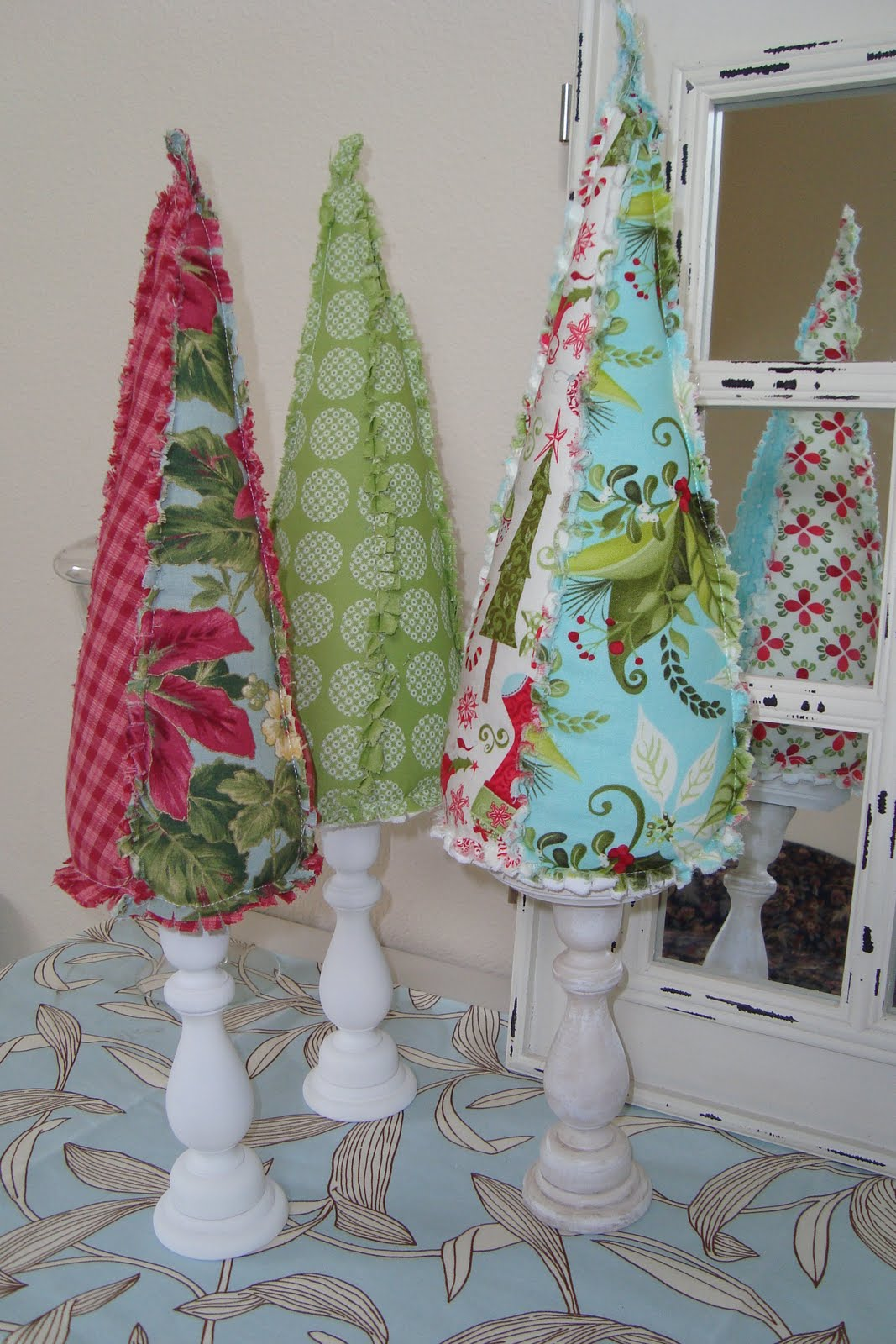 Christine S Favorite Things Fabric Christmas Trees
