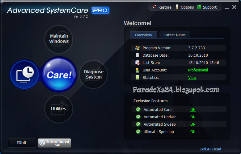 <b>Advanced</b> <b>SystemCare</b> <b>12</b>.<b>3</b>.0 <b>Pro</b> License Key {Crack + Keygen}