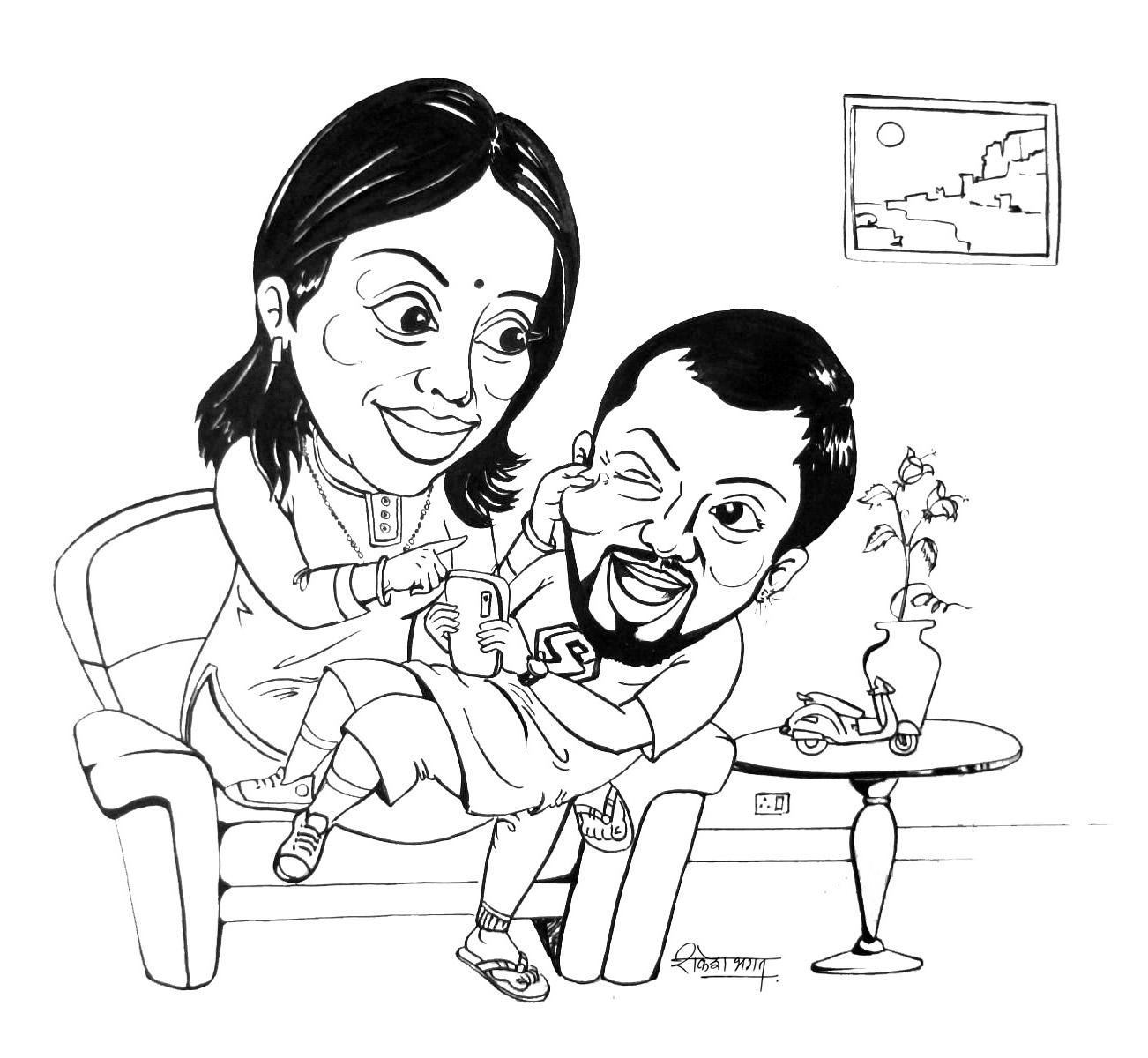 Ink Illusory Caricature Seasons