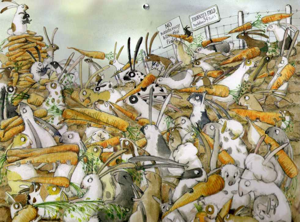 The Rabbit Problem Written And Illustrated By Emily Gravett